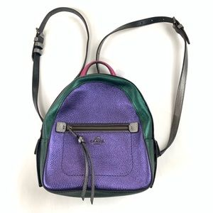 NEW Coach Mini Backpack Purse Leather Colorblock